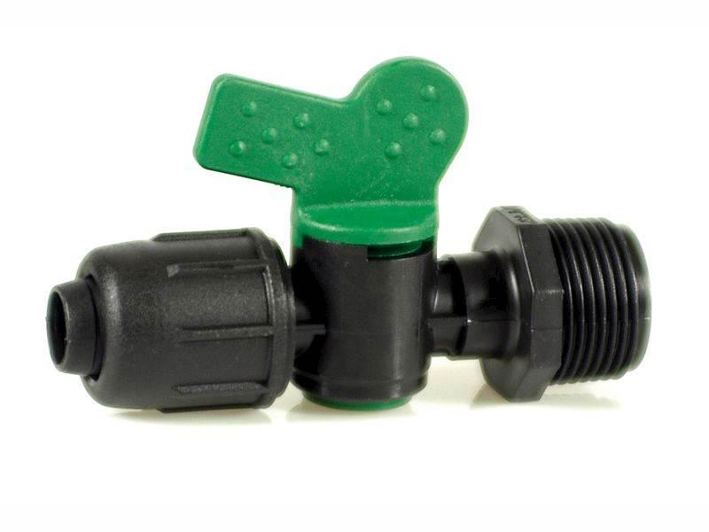 IRRITEC Zawór kulowy plastikowy 16-3/4 zielony