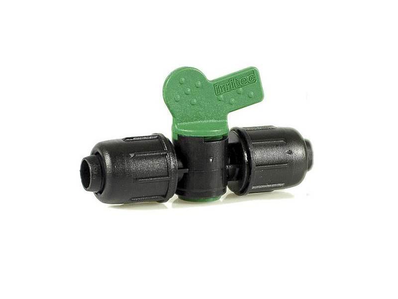IRRITEC Zawór kulowy plastikowy 16-16 zielony