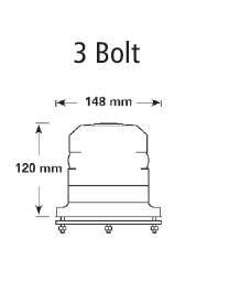 Lampa błyskowa led Economy 12-24V  DB5010A