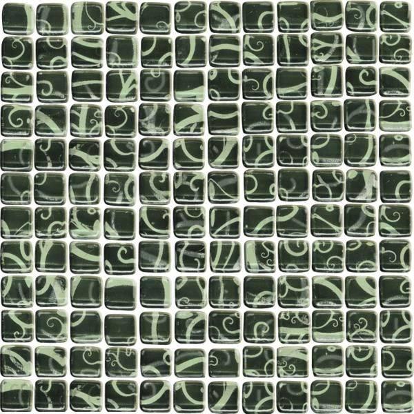 Mozaika HANABI NERO SZKL 30X30 G1 P