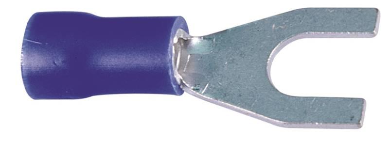 Końcówka wytłaczana widełkowa izolowana C 3-2,5