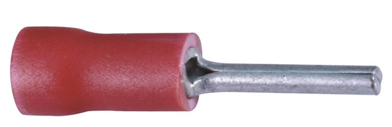 Końcówka wytłaczana igiełkowa izolowana 1 czerwona