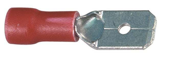 Wsuwka konektorowa izolowana 6,3-1,0-0,8
