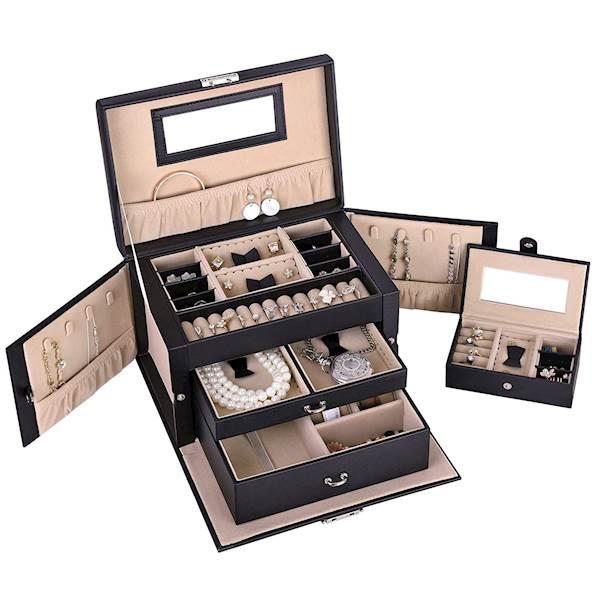 Szkatułka na biżuterię-kuferek SONGMICS JBC121B