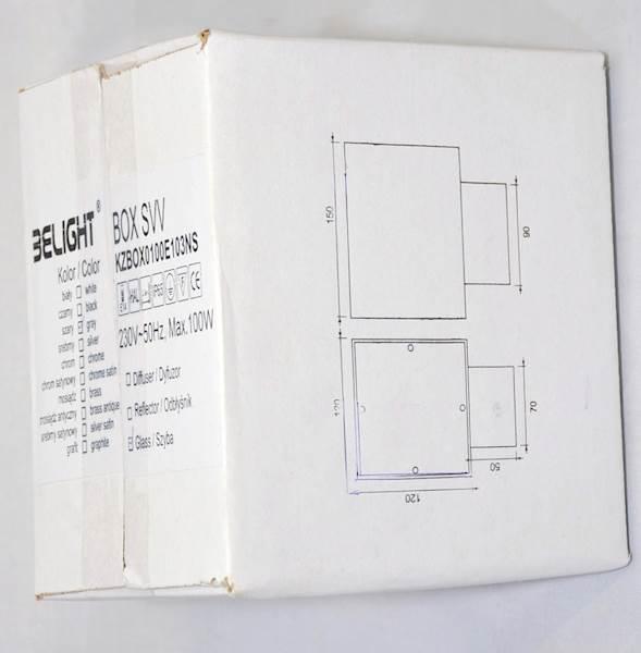 Oprawa zewnętrzna BOX SVV lampa LED E14