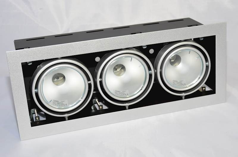 OPRAWA DOWNLIGHT sufitowa  SQUERTO 3x lampa150W MH