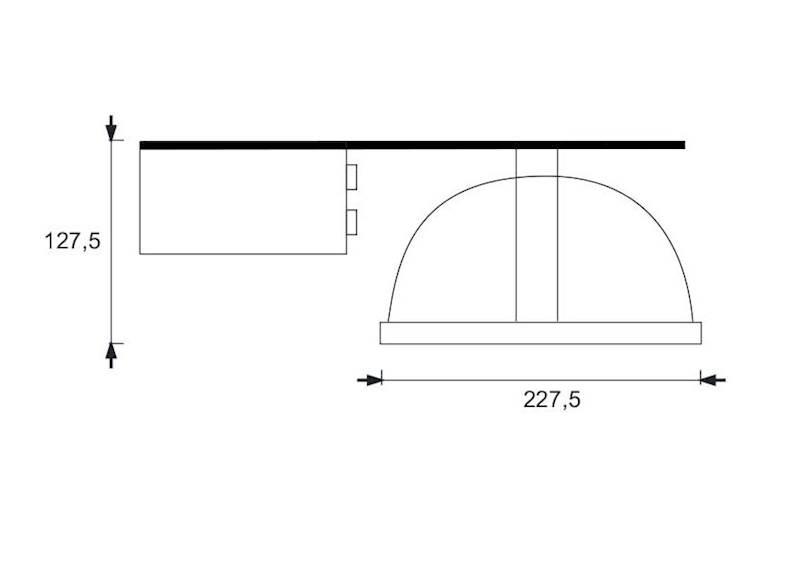 OPRAWA DOWNLIGHT KUBLO 226CG lampa sufitowa 2X26W
