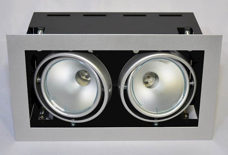 OPRAWA DOWNLIGHT sufitowa  SQUERTO2xlampa150W MH