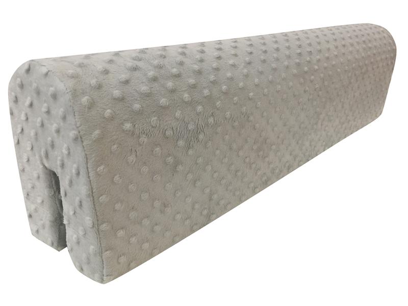 Ochraniacz piankowy Minky na łóżko barierkę 80 cm - szary