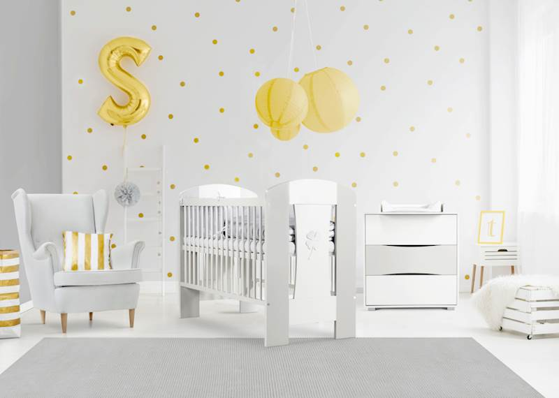 Nati - Zestaw mebli niemowlęcych - biały