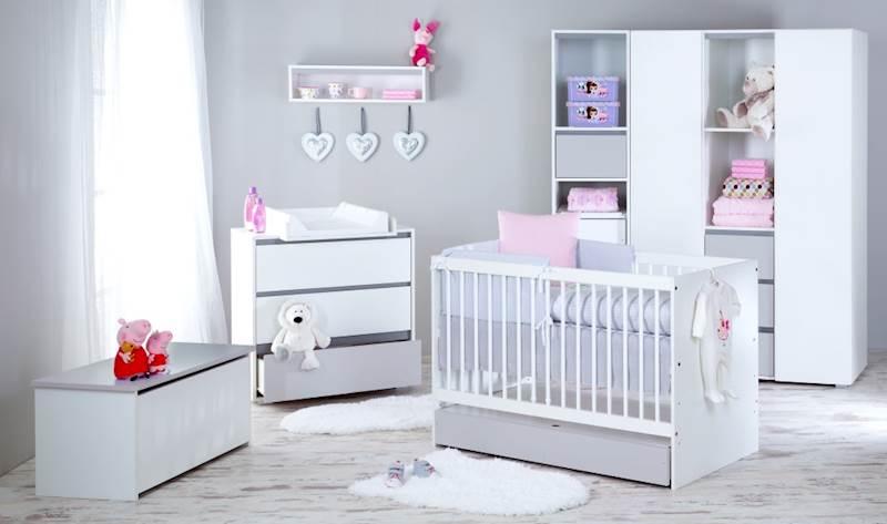 Dalia - Zestaw mebli niemowlęcych - szary