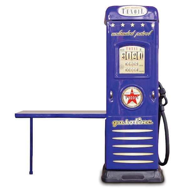 Szafa dziecięca z biurkiem - dystrybutor do auta - niebieski