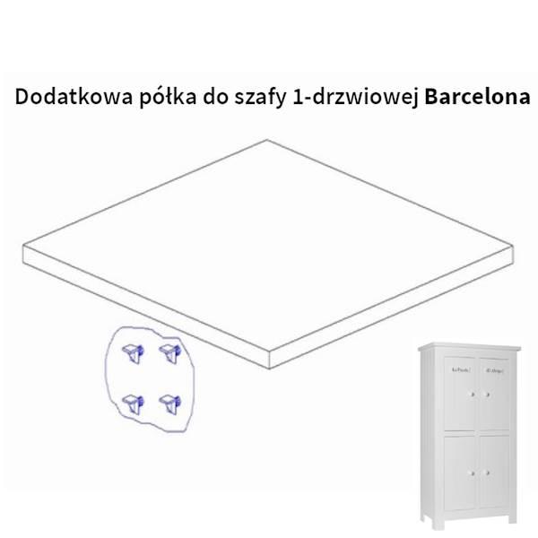 Barcelona Pinio - Dodatkowa półka do szafy 4 drzwiowej - kolor biały