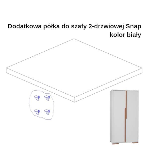 Snap Pinio - Dodatkowa półka do szafy 2 drzwiowej - kolor biały