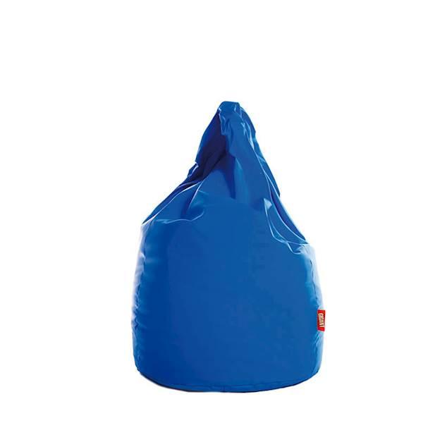 Pufa XL (ekoskóra) - niebieski