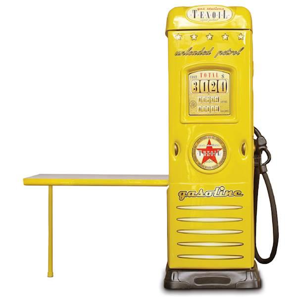 Szafa dziecięca z biurkiem - dystrybutor do auta - żółty