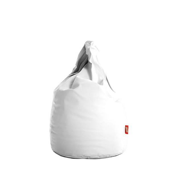 Pufa XL (ekoskóra) - biały