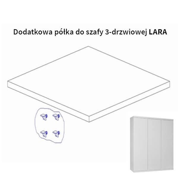 Lara Pinio - Dodatkowa półka do szafy 3 drzwiowej - kolor biały