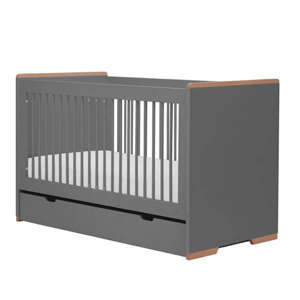 Snap Pinio - Szuflada do łóżeczka 140x70 cm - kolor ciemny szary