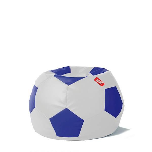 Pufa piłka 250L (ekoskóra) - biało-niebieska