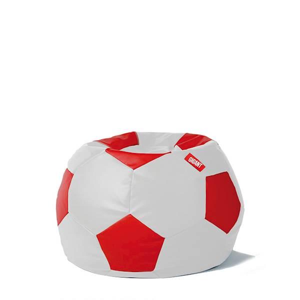Pufa piłka 250L (ekoskóra) - biało-czerwona