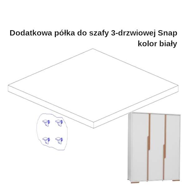 Snap Pinio - Dodatkowa półka do szafy 3 drzwiowej - kolor biały