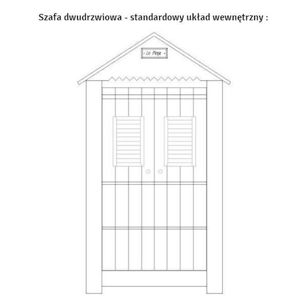 Marsylia drewno Pinio - szafa 2 drzwiowa domek - kolor biały