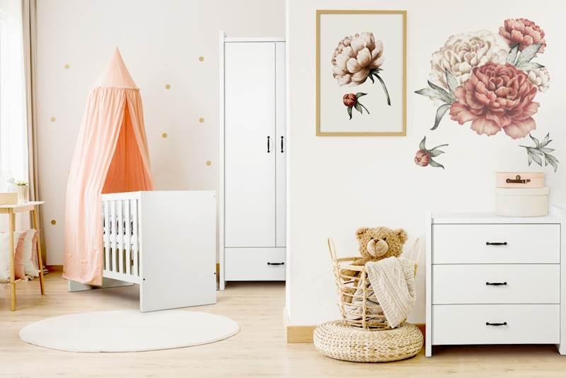 Amelia - Zestaw mebli niemowlęcych - biały