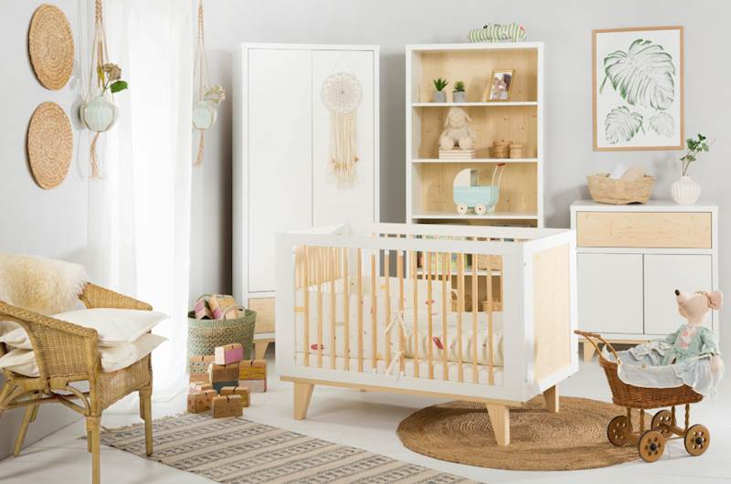 Lydia - Zestaw mebli niemowlęcych - biały