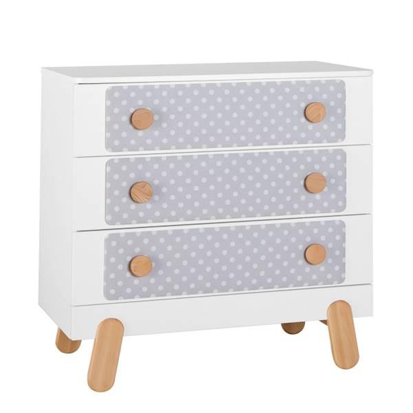 Iga Pinio - Komoda 3 szuflady - kolor biały