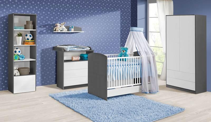 Sweet - Zestaw mebli niemowlęcych (3) - kolor szary + biały