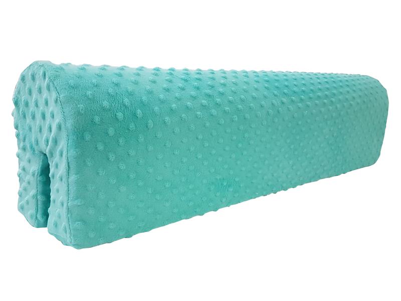 Ochraniacz piankowy Minky na łóżko barierkę 80 cm - mięta