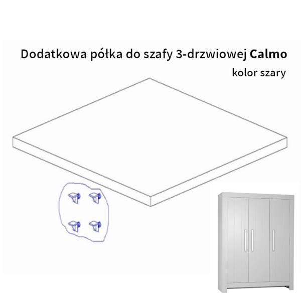 Calmo Pinio - Dodatkowa półka do szafy 3 drzwiowej - kolor szary