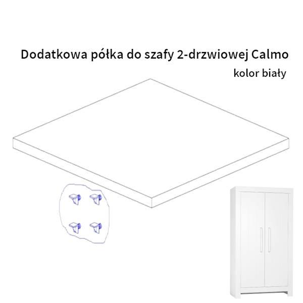 Calmo Pinio - Dodatkowa półka do szafy 2 drzwiowej - kolor biały