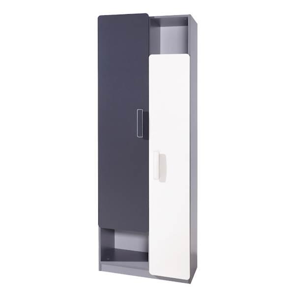 LIDO - Regał 2-drzwiowy  - Grafit + popiel + biel