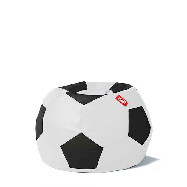 Pufa piłka 250L (ekoskóra) - biało-czarna
