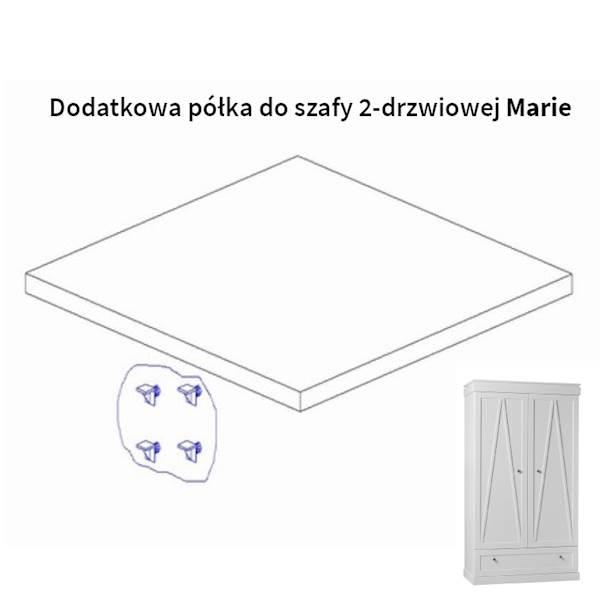 Marie Pinio - Dodatkowa półka do szafy 2 drzwiowej - kolor biały