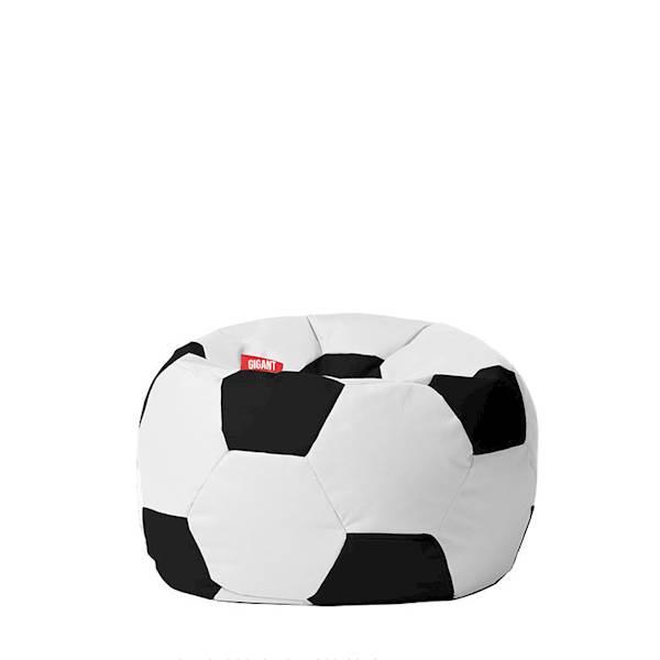 Pufa piłka 250L (kodura) - biało-czarna