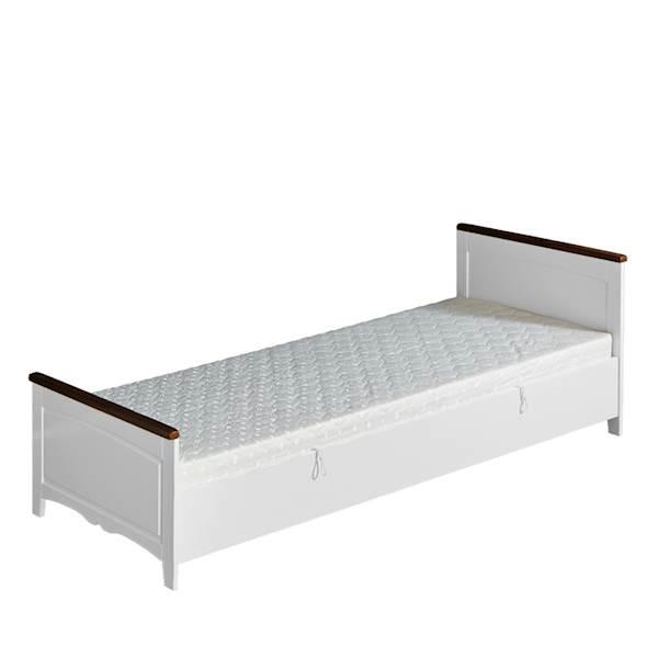 Prowansja - Tapczan 200x90 z materacem - biały