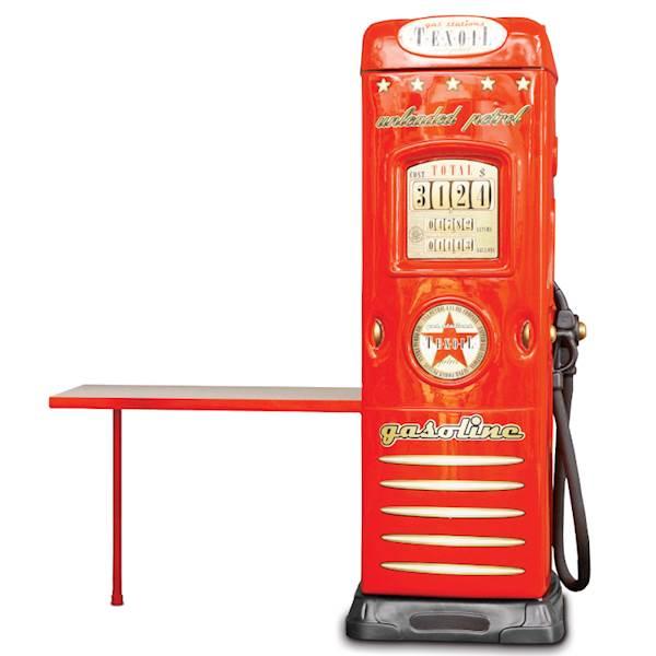Szafa dziecięca z biurkiem - dystrybutor do auta - czerwony