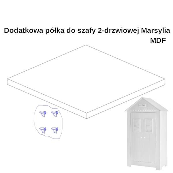 Marsylia MDF - dodatkowa półka do szafy 2 - biały