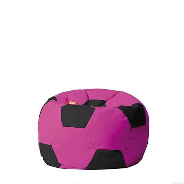 Pufa piłka 250L (kodura) - różowo-czarna