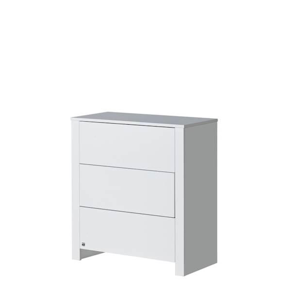 Basic ATB - Komoda 3 szuflady - kolor biały