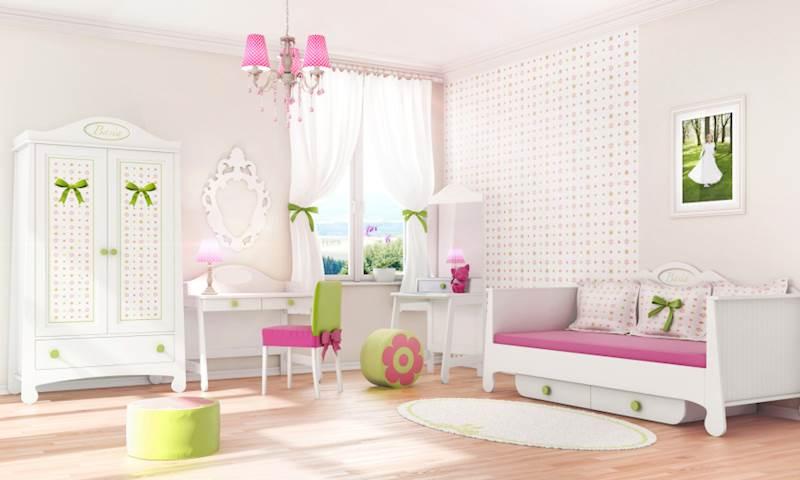 Pinio Parole - Zestaw mebli 3 (szafa + łóżko 200x90 + biurko + toaletka)