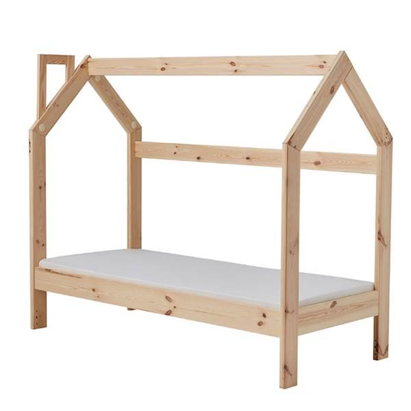 Domek Pinio łóżko 160x70 cm - drewno sosnowe lakierowane