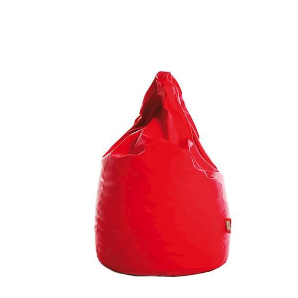 Pufa XL (ekoskóra) - czerwony