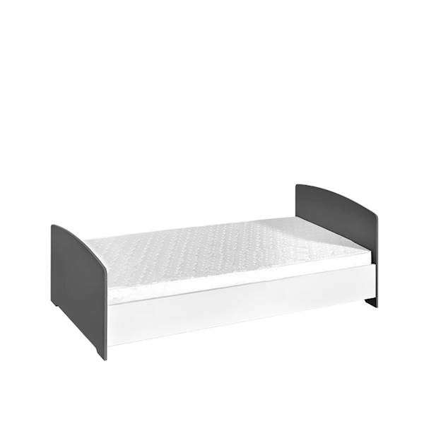 Sweet - Łóżeczko taczanik 140x70 cm - kolor szary + biały