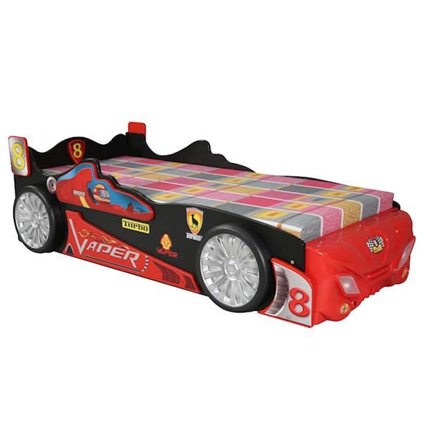 Łóżko dziecięce z materacem 200x90 cm - Samochód Vaper