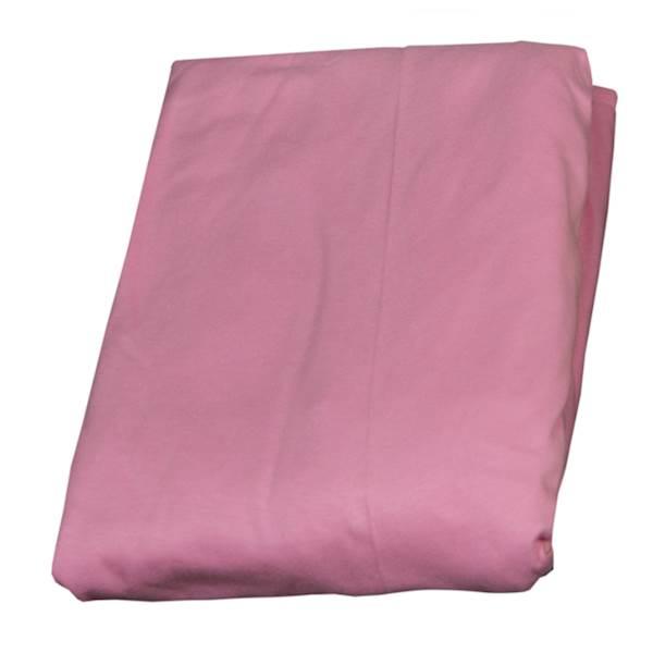 Prześcieradło z gumką na łóżko dziecięce 160x80 cm - kolor różowy