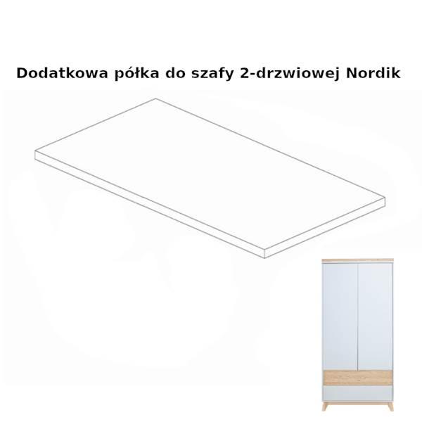 Nordik - Dodatkowa półka do szafy 2 drzwiowej